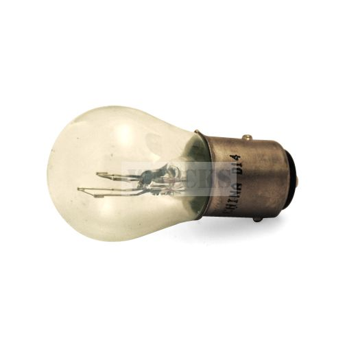 Light Bulb #1157 12V Large Globe, Dual Filament, Alignment Tabs Offset