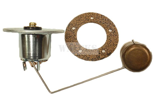 Fuel Tank Sending Unit With Brass Float CJ2A, CJ3A, Early CJ3B