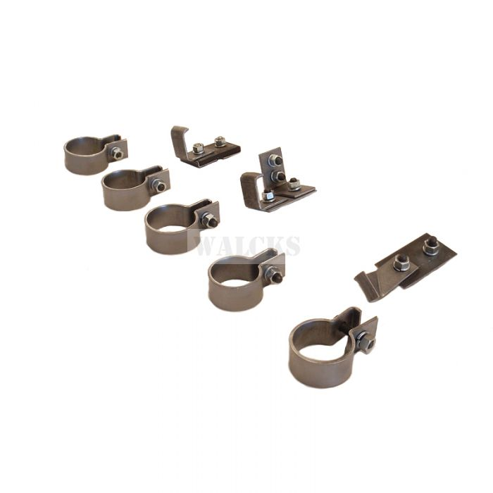 Original Exhaust Clamp And Hanger Kit CJ2A, CJ3A, CJ3B