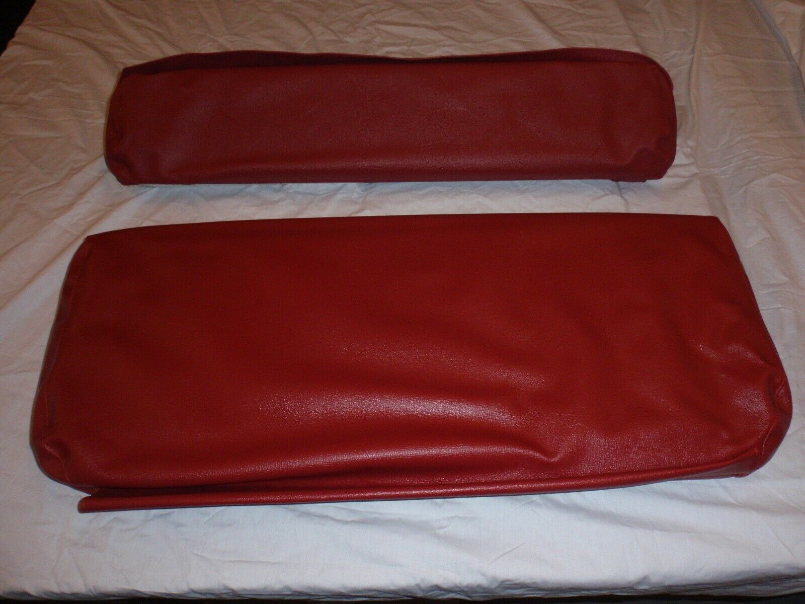 Rear Seat Covers For Short Back Rear Seat Red Barcelona CJ2A USA made
