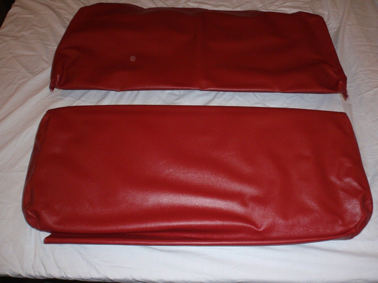 Rear Seat Covers For Long Back Rear Seat Red Barcelona CJ2A, Ealy... USA made