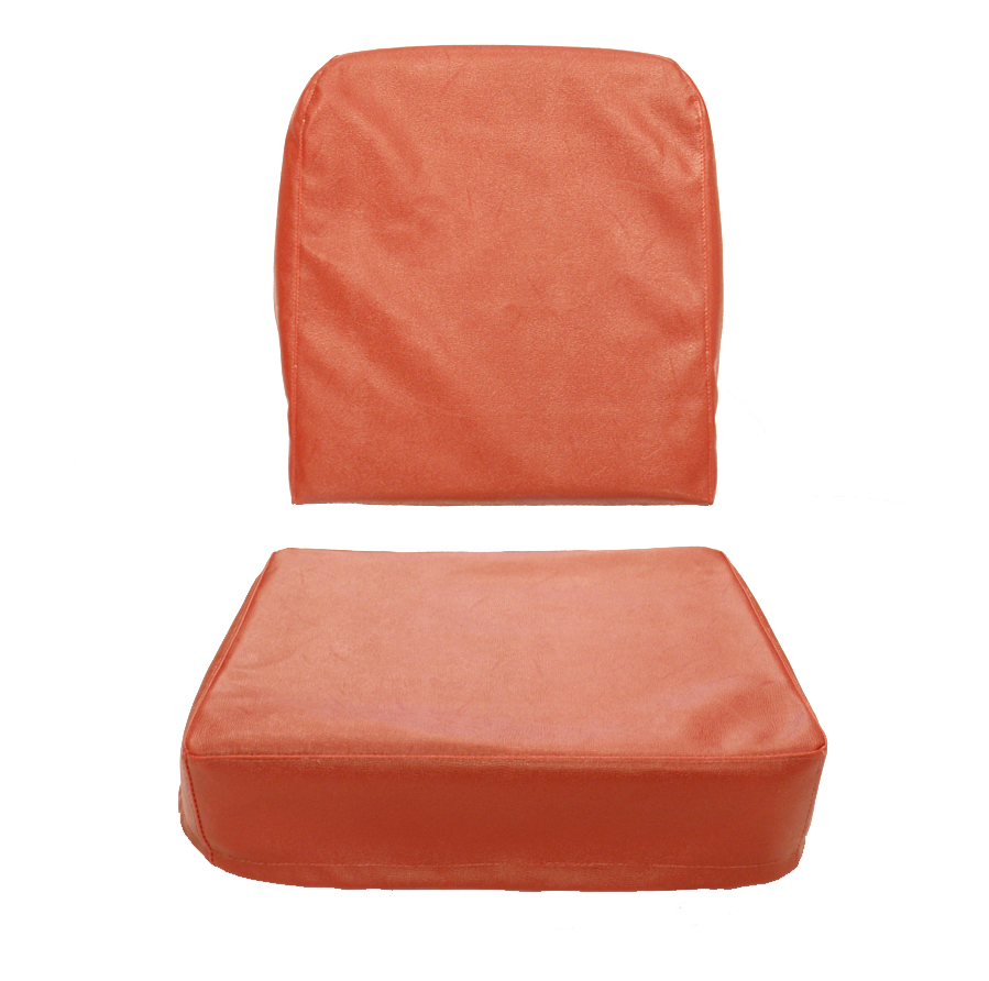 Seat Cover Drivers Or Passenger Red Barcelona 1949-1956 CJ3A, CJ3B USA made