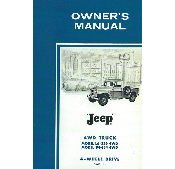 Owners Manual 1960-1962 Pick Up Truck 6-226 Super Hurricane & F Head 4 Cylinder