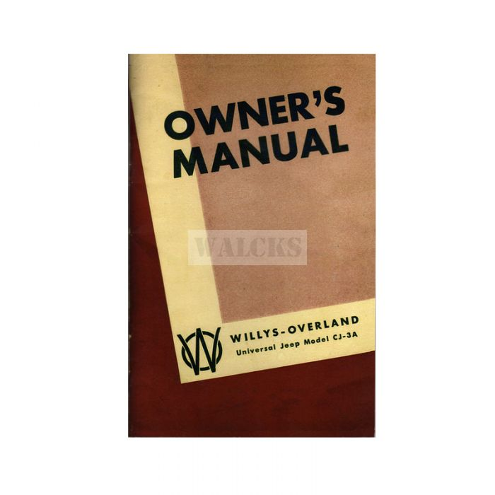 Owners Manual CJ3A 1949-1953