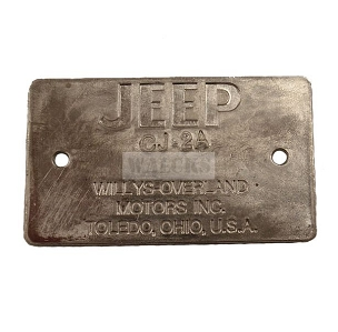 Frame Tag CJ2A 1945 And Early 1946
