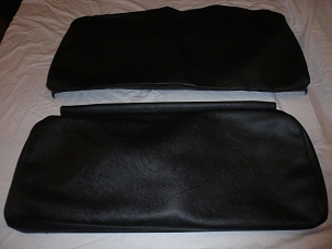 Rear Seat Covers For Long Back Rear Seat Black CJ2A, Early CJ3A USA made