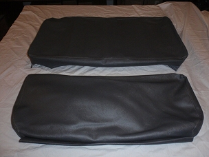 Rear Seat Covers For Long Back Rear Seat Slate Gray CJ2A, Early CJ3A, CJ3B USA made