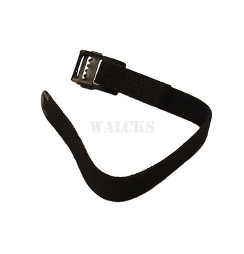 Windshield Strap To Grill Black CJ2A, CJ3A, CJ3B