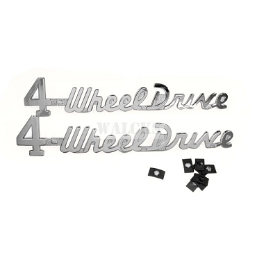 4-Wheel Drive Emblem Set Pick Up Truck, Station Wagon, Sedan Delivery