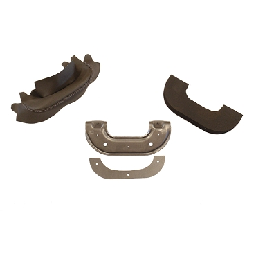 Arm Rest Kit Disassembled Framework, Foam, Black Covers 1946-1964 Truck, Wagon, Delivery, FC