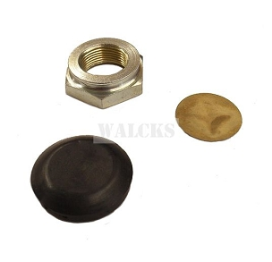Horn Button Rubber and Nut 1 1/4