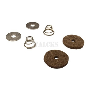 Pedal Draft Pad Kit With Felt Seals MB, GPW, Early CJ2A
