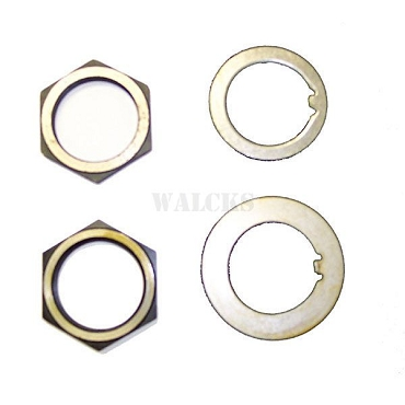 Spindle Nut and Washer Kit 2 Nuts, Crimp Washer & Lock Washer ALL 4WD