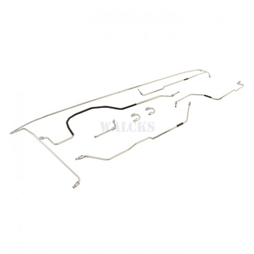 Brake Line Kit, Late CJ2A w/ 41 Rear Axle