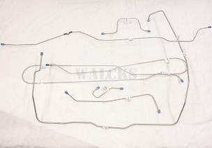 Prebent Brake Line Kit Pick Up Truck 1954-1956 With Timken Rear