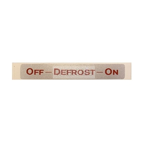 Decal Defroster Position 1948-1950 Willys Style Heaters Pick Up Truck, Station Wagon, Sedan Delivery, Jeepster