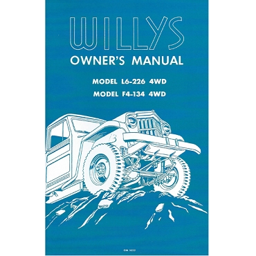 Owners Manual 1957-59 Pick Up Truck 6-226 Super Hurricane & F Head 4 Cylinder