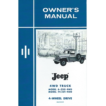 Owners Manual 1962-1963 Pick Up Truck 6-230 Over Head Cam Tornado & F Head 4 Cylinder