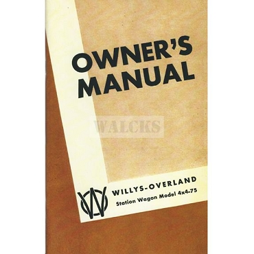 Owners Manual 1950-56 4 Cylinder 4WD Station Wagon