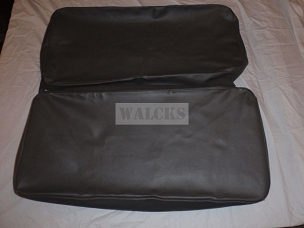 Rear Seat Covers Dark Grey With 2 3/4