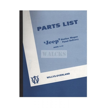 Parts Book 1946-1949 2WD Station Wagon, Sedan Delivery