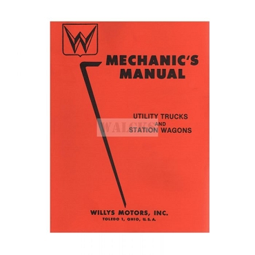 Repair Manual 1950-56 Pick Up Truck, Station Wagon, Sedan Delivery, Jeepster
