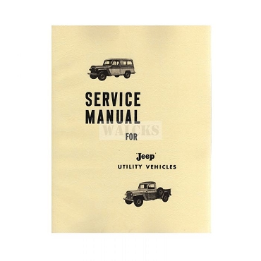 Repair Manual 1957-62 Pick Up Truck, Station Wagon, Sedan Delivery