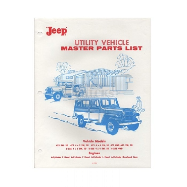 Parts Book 1953-63 Pick Up Truck, Station Wagon, Sedan Delivery