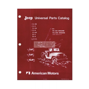 Parts Book 1964-71 CJ3B, CJ5, CJ6, DJ